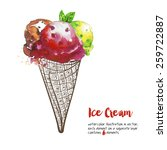 ice cream | Shutterstock .eps vector #259722887