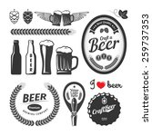 good craft beer brewery labels  ... | Shutterstock .eps vector #259737353