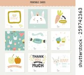 romantic and love cards  notes  ... | Shutterstock .eps vector #259742363
