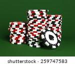 stacks of poker chips | Shutterstock . vector #259747583