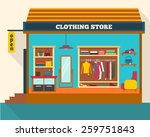 clothing store. man and woman... | Shutterstock .eps vector #259751843
