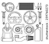 car parts. automotive themed...   Shutterstock .eps vector #259760273