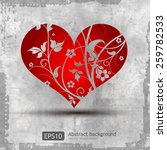 graphic grunge heart | Shutterstock .eps vector #259782533