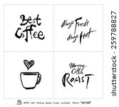 hand drawn cafe poster... | Shutterstock .eps vector #259788827