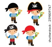 little pirate vector... | Shutterstock .eps vector #259809767