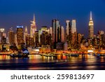 New York City Night Skyline...