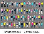 multiethnic casual people...   Shutterstock . vector #259814333