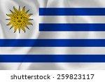 uruguay flag flag | Shutterstock .eps vector #259823117