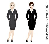 two business women.... | Shutterstock .eps vector #259837187
