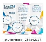 tri fold brochure template   Shutterstock .eps vector #259842137