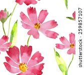 watercolor seamless pattern...   Shutterstock .eps vector #259857107