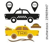 taxi. set. | Shutterstock .eps vector #259859447