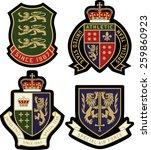 classic heraldic royal emblem... | Shutterstock .eps vector #259860923