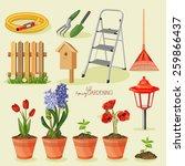 spring gardening. garden icon... | Shutterstock .eps vector #259866437
