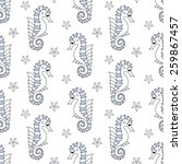 sea seamless pattern with sea... | Shutterstock .eps vector #259867457