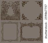 vector set of decorative ornate ... | Shutterstock .eps vector #259867757