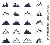mountain one color  icon set.... | Shutterstock .eps vector #259869707