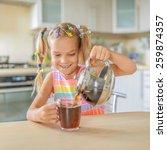 little beautiful smiling girl... | Shutterstock . vector #259874357