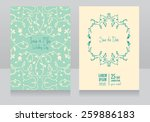 two floral wedding cards ...