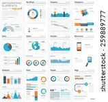 mega colletion of infographic... | Shutterstock .eps vector #259889777