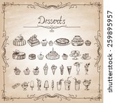 vintage collection  sketches of ... | Shutterstock .eps vector #259895957