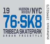 new york skate board typography ... | Shutterstock .eps vector #259902173