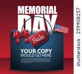 memorial day sale shopping bag... | Shutterstock .eps vector #259908257