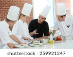 chef training students in...   Shutterstock . vector #259921247