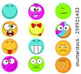 set of emoticons | Shutterstock .eps vector #259921433