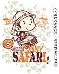 Funny Safari Monkey  Vector Fo...