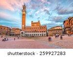 piazza del campo in siena  italy | Shutterstock . vector #259927283