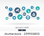 security network. growth... | Shutterstock .eps vector #259933853