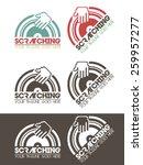 scratching music logo  modern ...