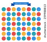 emotion icons  | Shutterstock .eps vector #259988813