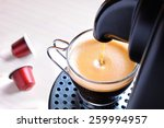 machine serving espresso coffee ... | Shutterstock . vector #259994957