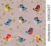 forest birds. | Shutterstock .eps vector #260012627
