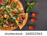 Fresh Spicy Italian Pizza With...