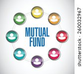 mutual fund people diagram... | Shutterstock .eps vector #260032967