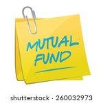 mutual fund memo post... | Shutterstock .eps vector #260032973
