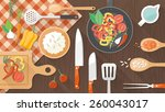 food and cooking banner | Shutterstock .eps vector #260043017