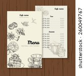 restaurant or cafe menu vector... | Shutterstock .eps vector #260049767