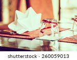 selective focus point on glass... | Shutterstock . vector #260059013