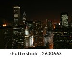 Chicago Skyline At Night With...