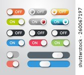 toggle switch icons. on and off ... | Shutterstock .eps vector #260067197