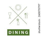 dining thin line icon.vector... | Shutterstock .eps vector #260070797