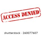 stamp with text access denied... | Shutterstock .eps vector #260077607