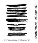 vector set of grunge brush... | Shutterstock .eps vector #260085707
