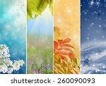 four bright seasons   spring ... | Shutterstock . vector #260090093