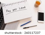 pay per lead   handwritten text ... | Shutterstock . vector #260117237