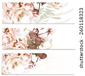 set of floral brochures with... | Shutterstock .eps vector #260118323
